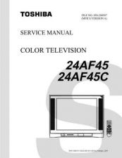Buy TOSHIBA 24AF45 24AF45C SVM Service Schematics by download #159758