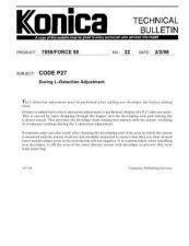 Buy Konica 22 CODE P27 Service Schematics by download #136042