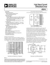 Buy INTEGRATED CIRCUIT DATA AD815J Manual by download Mauritron #186367