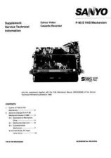 Buy Sanyo Service Manual For MECHANISM-P90-SVHS Manual by download #175965