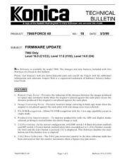 Buy Konica 18 FIRMWARE UPDATE Service Schematics by download #136020