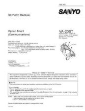 Buy Sanyo Service Manual For VA-20ST Manual by download #176054