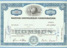 Buy CA na Stock Certificate Company: Barton Instument Corporation ~7