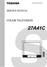 Buy TOSHIBA 27A41C Service Schematics by download #159789
