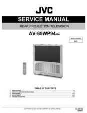 Buy JVC AV-65WP94 HA Service Schematics by download #155384