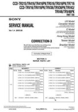 Buy SONY CCD-TR311E Service Manual by download #166376