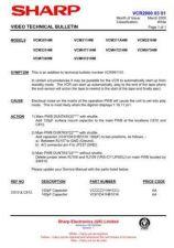 Buy Sharp VCMH722HM-005 Service Schematics by download #159197
