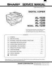 Buy Sharp AL1020-1200-1220-1250 SM GB Manual by download #178968