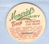 Buy CAN Ontario Peterborough Milk Bottle Cap Name/Subject: Moncrief's Dairy Be~536