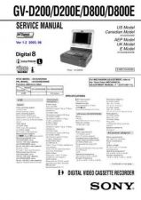Buy SONY GV-D200D200ED800D800E Service Manual by download #166907