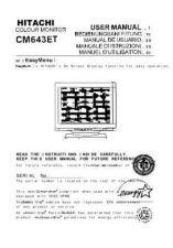Buy Sanyo CM643ET ES Manual by download #173531