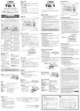 Buy Yamaha TD1 EN Operating Guide by download Mauritron #205399