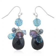 Buy Genuine Sodalite Cluster Drop Earrings