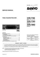 Buy Sanyo Service Manual For VHR-778E Manual by download #176198