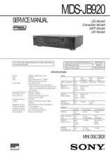 Buy SONY MDSJE480 MANUAL by download #128850