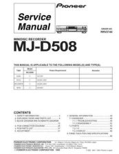 Buy PIONEER MJ-D508 Service Manual by download Mauritron #193571