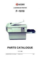 Buy KYOCERA F-1010 PARTS MANUAL by download #148404