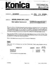 Buy Konica 27A DEVELOPING AGITATOR Service Schematics by download #136077
