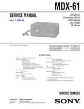 Buy SONY MDX-61 CDC-1409 by download #159588