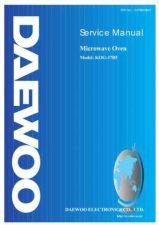 Buy DAEWOO SM KOG-37B5 (E) Service Data by download #150588