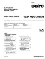 Buy SONY MECHANISM-VC2K Service Manual by download #167082