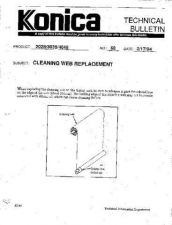 Buy Konica 68 CLEANING WEB REPLACEMENT Service Schematics by download #136242