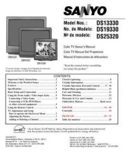Buy Sanyo DS13330(SM78008702,01) Manual by download #173996