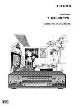 Buy Hitachi VTMX930EVPS EL Manual by download #171152