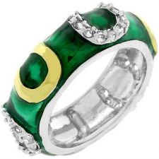 Buy Dark Green Enamel Horseshoe Ring (size: 09)