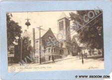 Buy CT Derby Methodist Church Street Scene Intersection w/Trolley Track Horse ~607