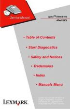 Buy LEXMARK OPTRA E310 E312 4044 XXX 2 CDC-1027 Service Manual by download #137963