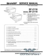 Buy Sharp 87 SF-2118 SM Manual.pdf_page_1 by download #178915
