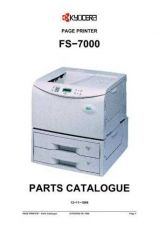 Buy KYOCERA FS-7000 PARTS MANUAL by download #148443