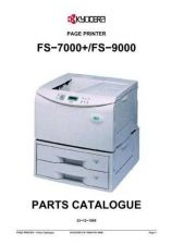 Buy KYOCERA FS-9000 PARTS MANUAL by download #148447