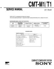 Buy Sony CMT-L1 Service Manual by download Mauritron #193065