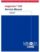 Buy QMS MAGICOLOR 330 SERVICE MANUAL by download #153476