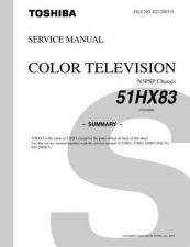 Buy TOSHIBA 51HX83 SUMMARY Service Schematics by download #160038