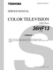Buy TOSHIBA 36HF13 SUMMARY Service Schematics by download #159950