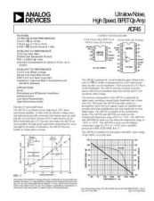 Buy INTEGRATED CIRCUIT DATA AD745J Manual by download Mauritron #186322