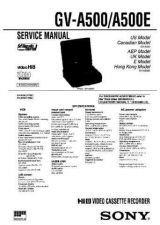 Buy SONY GV-A500E Service Manual by download #166901