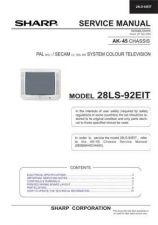 Buy Sharp 28LF92EES SM GB(1) Manual by download #169940