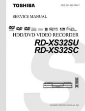 Buy TOSHIBA RDXS32SU RDXS32SCSVM Service Schematics by download #160341