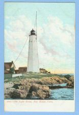 Buy CT New Haven Old Light House View Of Old Light House w/Other Old Buildings~548