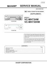 Buy Sharp VCMH73HM-014 Service Schematics by download #159269