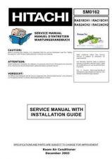 Buy HITACHI RAS24CH2 SM 0162E Manual by download Mauritron #186229