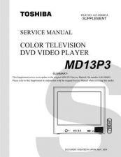 Buy TOSHIBA MD13P3SUM Service Schematics by download #160157