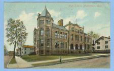 Buy CT Middletown High School View Of Old School Building On Street Corner Old~532