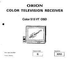 Buy ORION COLOR 515VT Service Manual by download Mauritron #193512