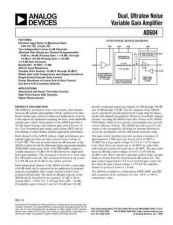 Buy INTEGRATED CIRCUIT DATA AD604J Manual by download Mauritron #186283