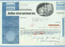 Buy DE na Stock Certificate Company: Rollins International, Inc. ~67